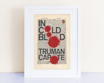 In Cold Blood by Truman Capote Print on an antique page