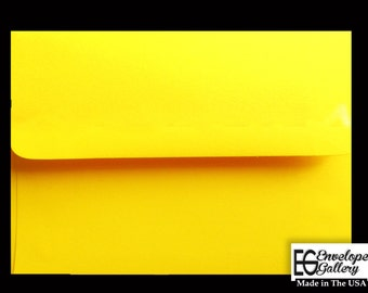 25 Pack Bright Yellow 60lb Bright Yellow A1 A2 A6 A7 Envelope for Invitations Cards Announcements Showers Stampin Up Weddings