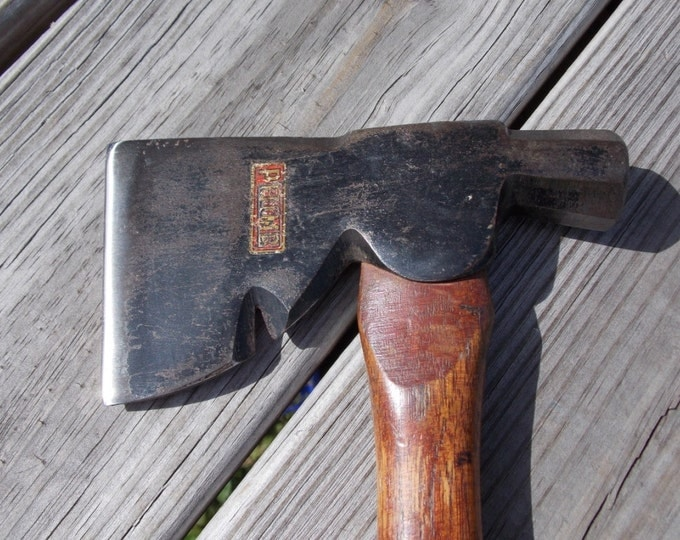 Plumb hatchet all original with the sticker 13 inch handle weighs 1lb 7 oz