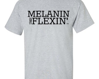 Melanin Straight Flexin' Men's Tee