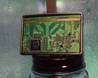 Green Circuit Board Belt Buckle