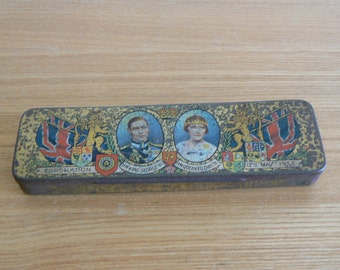 Tin Commemorating the Coronation of King George VI and Queen Elizabeth 12th May 1937.