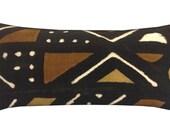 "Mud Cloth Lumbar Pillow Cover, Mud Cloth Pillows, 12"" x 24"", African Home Decor, Tribal Home Decor, Lumbar Pillows, Modern Home Decor"