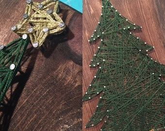 MADE TO ORDER - Christmas Tree String Art Sign
