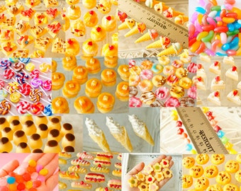 Made-to-order for 10 Items, made to order, choose sweet Deco 10 items, Sweets Deco, Air Dry Clay, Miniature Food Deco Parts, (Japan domestic shipping free),