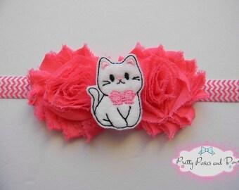 Cat Headband, Kitten Headband, Kitty Headband, Baby Headband, Toddler Headband, Pink Headband