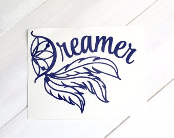 DIY Dreamer Vinyl Decal Dream Catcher & Feathers