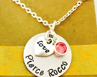 Mommy Necklace, Mom Jewelry - Mom Necklace - Mom Gift - Mother Jewelry - New Mommy Gift -Personalized Necklace - Necklace with Date-