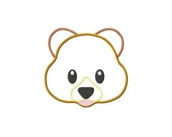 Applique Machine Embroidery Design Baby Bear