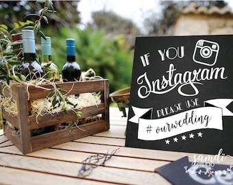 Instagram - If you instagram wedding sign/ wedding chalkboard/ chalkboard sign/ home decor/ Samdi (1)