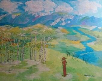 "Original Acrylic Painting - ""The Choir"""