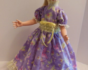 "Lavender & Yellow Long Dress Set for 22"" Eegee Puppetrina Dolls"