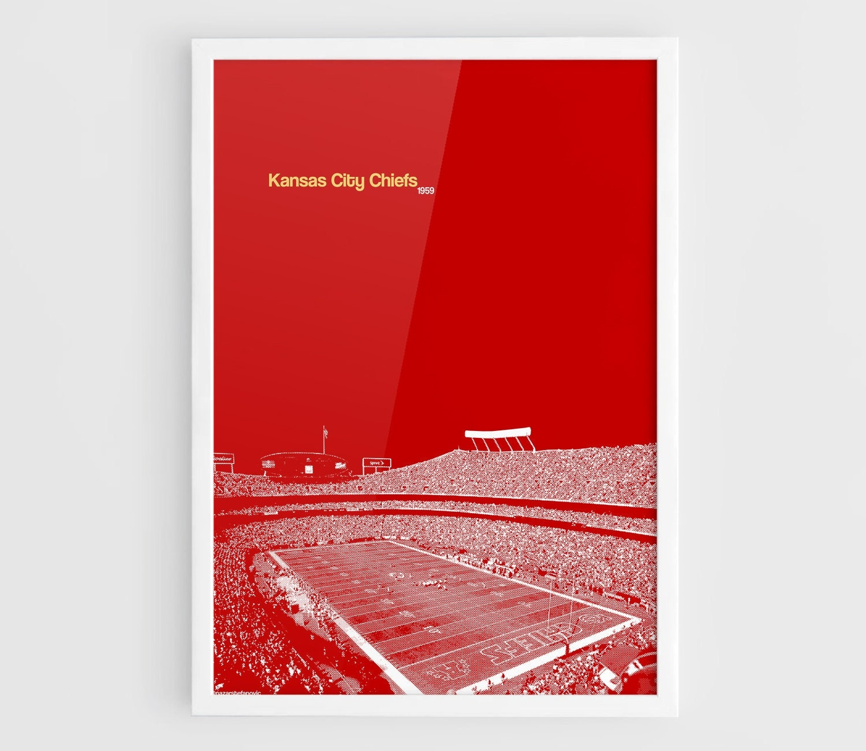 Kansas City Chiefs Football Field Mirror