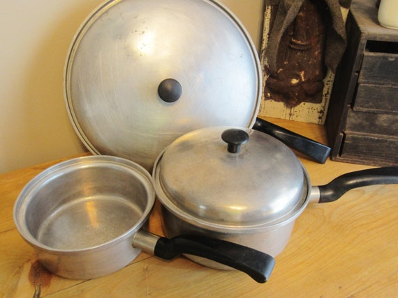 vintage vita craft cookware set of three