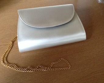 Ivory satin handbag /clutch bag