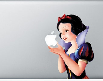 Sticker Macbook - Snow White - Decal for MacBook Air Pro Retina - 11 12 13 15 or 17 inches - Skin for macbook easy to stick