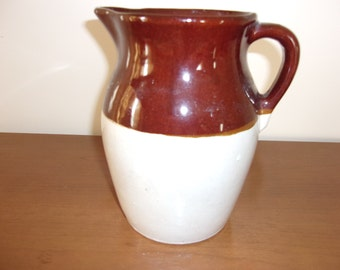 Vintage brown/cream pitcher