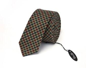Mens tie TW163 Skinny Tie Wool BoomBow Handmade Men's necktie