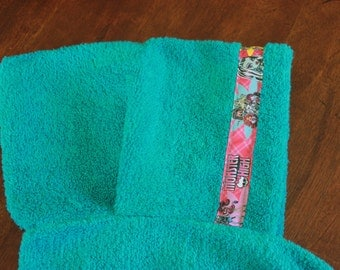Monsters High Hooded Towel, Teal - For babies, toddlers, preschoolers and beyond!