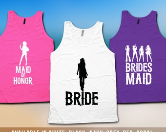 Bridesmaid Tank Top - Cowgirl Bachelorette Party Shirts, Nashville Bachelorette, Country Western Bachelorette Shirts, Bridesmaid Tank CT-501