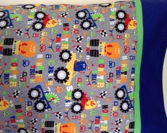 Monster truck pillowcases