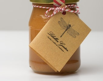 homemade vegan Quince-Confiture with Cinnamon from homegrown organic fruits, 250 ml