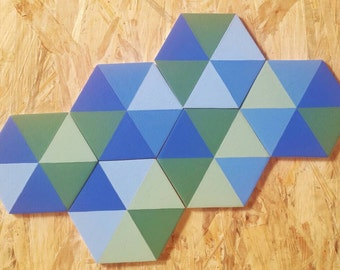 Handmade wooden tiles for walls/coasters