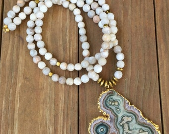 Stalactite & Agate Necklace
