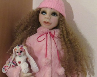 Soft sculpture textile doll handmade doll