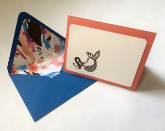 Set of Two, Mermaid Cards (Blank)