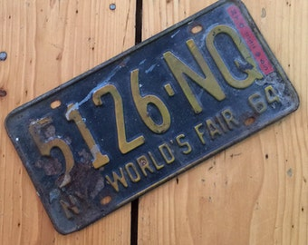1964  NY Worlds Fair License Plate