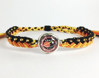 The Martian inspired Friendship Bracelets- Mark Watney, cabochon, seed beads