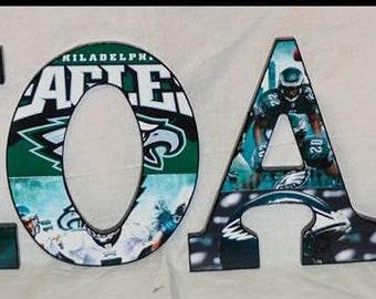 Philadelphia Eagles Inspired Wood Letters