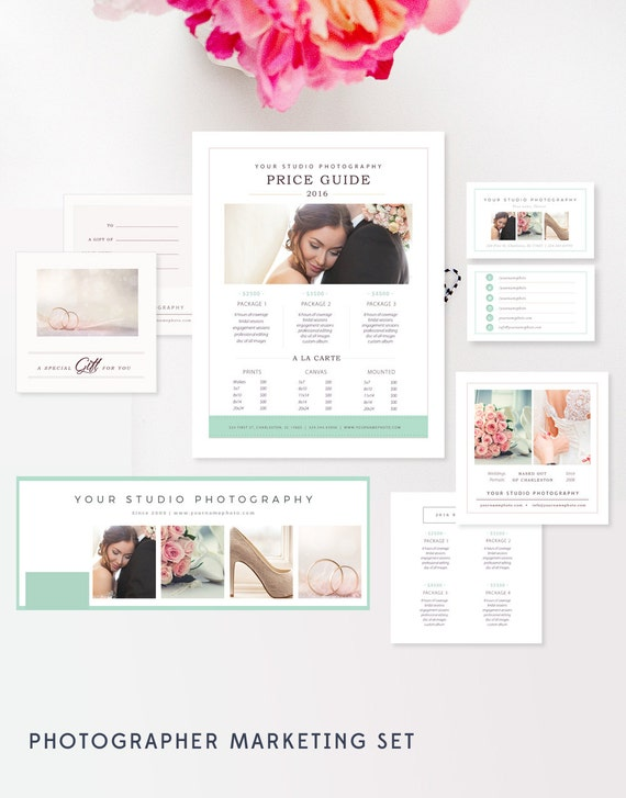 Wedding Gift Price Guide : ... Pricing Templates for Photographers - Price Guide, Gift Card, Timeline