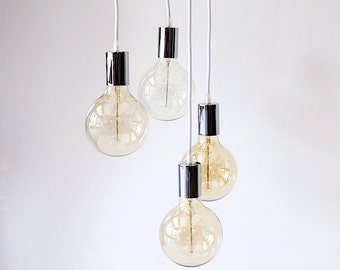 Industrial Chandelier Light Cluster Pendant Lighting Ceiling Hanging Lights Edison Chandelier Modern Pendant Light Home Decor DIY Lamp