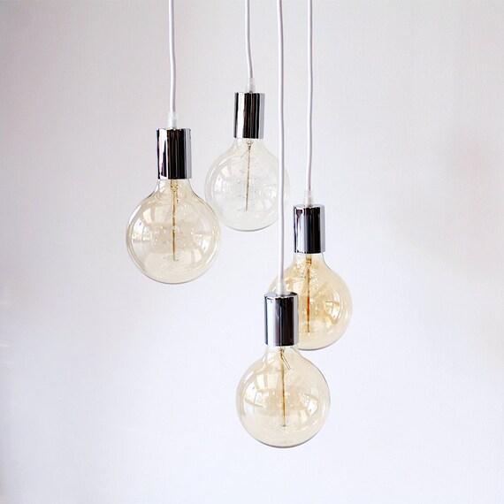 Industrial lámpara luz racimo colgante por lightingalchemy en etsy