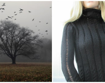 Sweater black as a crow's