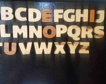 Wooden magnetic alphabet, wooden letters, wooden alphabet, magnetic letters, montessori inspired