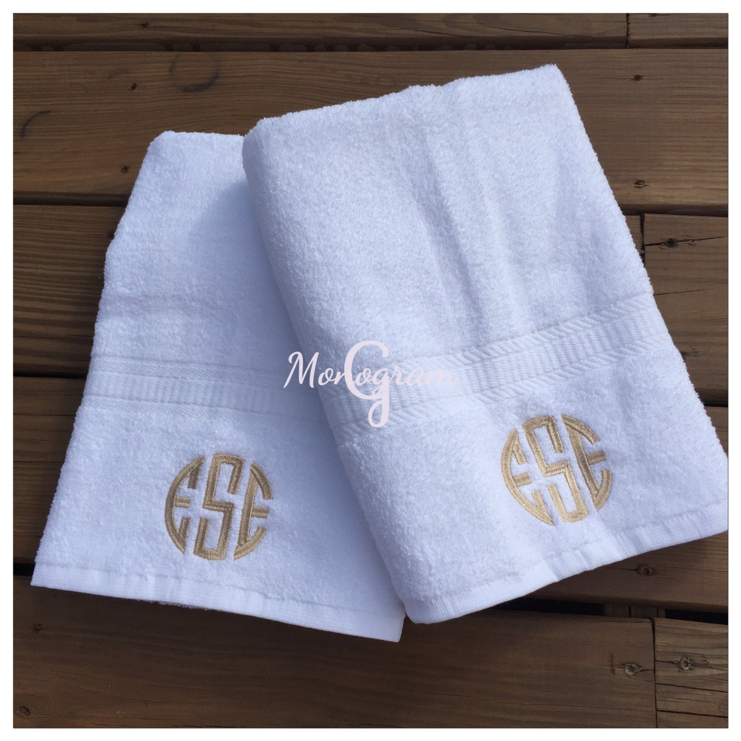 Monogram Towel Set/ Personalized Towels/ His And Her Bath