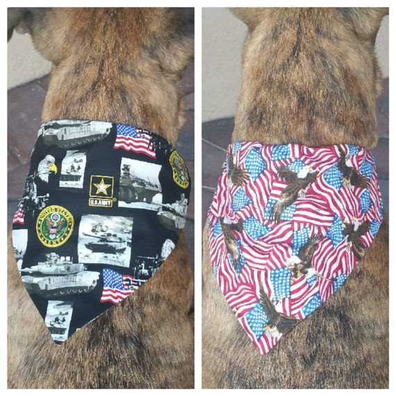 United States Army Dog Bandana U S Armed Forces Reversible