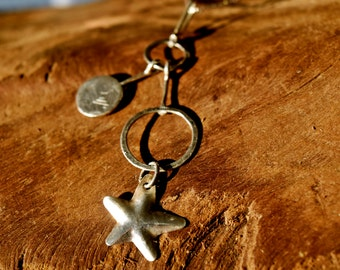 "Vintage Sterling Silver Falling Star from Isreal on a 18"" Chain"
