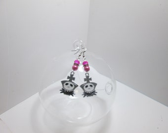 Nightmare Before Christmas earrings on Surgical Steel Wires / ItemI-109