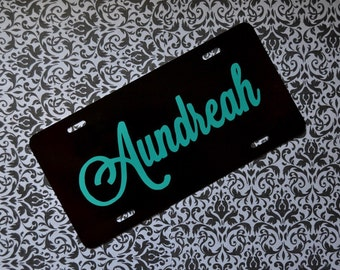 Custom Car Tag- Front License Plate- Personalized Car Tag with Name