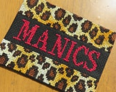 Manics Lipstick Traces Leopard Print Sew-on Badge Patch Manic Street Preachers