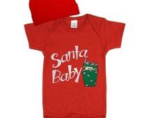 Embroidered Christmas Baby Set