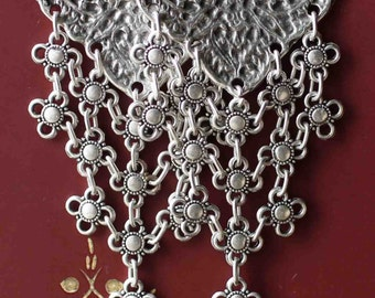 Oriental Ottoman Style Silver plated Turkish Tribal Boho Earrings