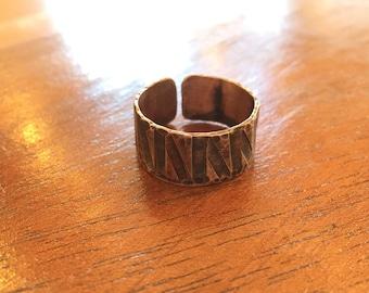 Copper crossroads ring size 9