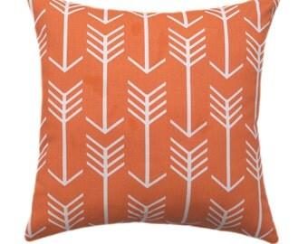 Arrow Pillow Cover, Orange Throw Pillow, Arrow Apache Orange Pillow Cover, Arrow Throw Pillow, Arrows Accent Pillow, Orange Zippered Pillow