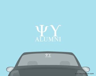 Psi Upsilon Fraternity Alumni Decal Sticker