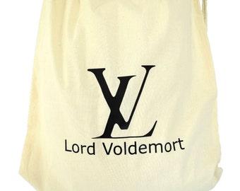 Gym bags OR jute bags Lord Voldemort